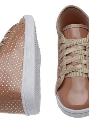Compartilhar:  tênis sapatênis casual feminino cano baixo, cor branco