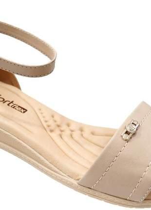 Sandália anabela feminina comfortflex ortpédica conforto casual moda 2170405