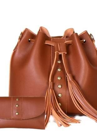 Bolsa saco feminina preto transversal preta couro ecolocigo