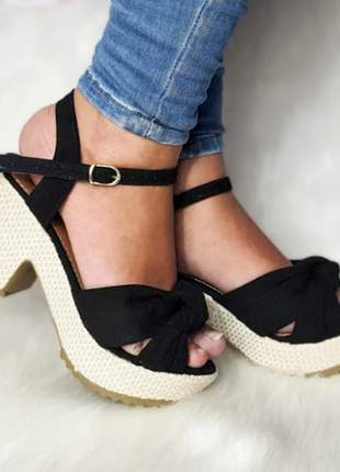 Sandalia feminina salto bloco
