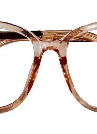 Óculos armações por grau feminino acetato estiloso chic