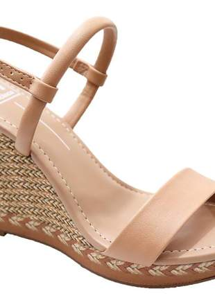 Sandália anabela feminina moleca versátil básico confortável  54111032