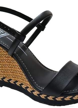 Sandália anabela feminina detalhes básica moda original moleca 54111032p