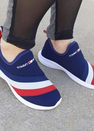 Tênis feminino tommy hilfiger leve e confortável