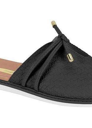 Chinelo flat feminino preto  moleca calce fácil versátil casual leve  5443116p