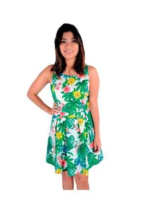 Vestido infinity fashion curto floral verde