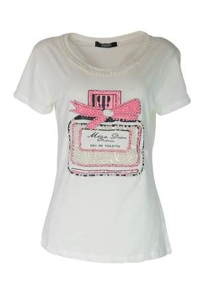 Blusa infinity fashion t-shirt perfume off white