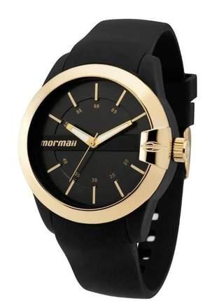 Relógio mormaii feminino mauii preto dourado mopc21jag/8p