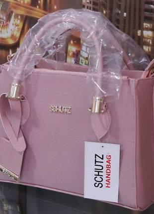 Promoção bolsa schutz com alça feminina lorena transversal média