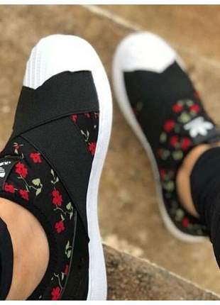 Sapatênis adidas slip on foundation feminino elástico confortável