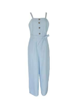 Macacão infinity fashion longo clássico azul