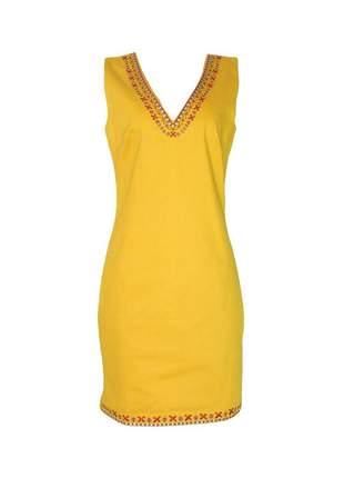 Vestido infinity fashion tubinho mostarda