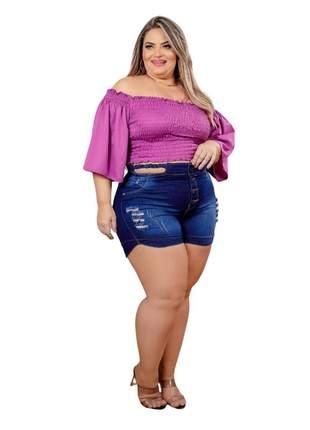 Shorts jeans dolce sedutti  plus size  trança