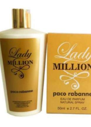 Kit pergume + creme importado lady milion