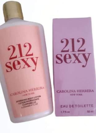 Kit perfume mais creme importado 212 sexy