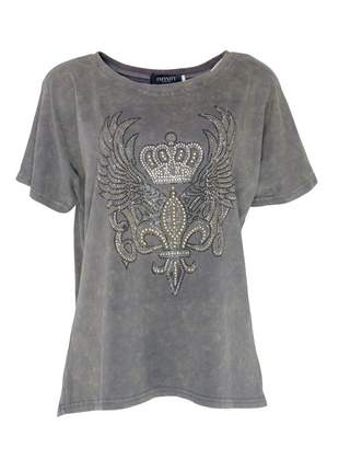 Blusa infinity fashion t-shirt cinza