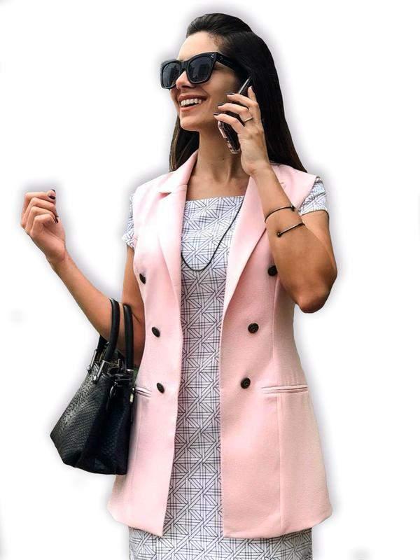 Maxi Colete Alfaiataria Rose R 9990 Shafa O Melhor Da Moda Feminina