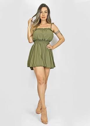Macaquinho dress code verde