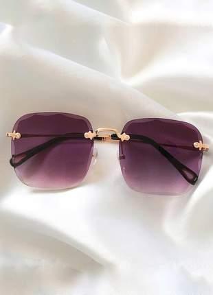 Óculos desol quadrado grande luxo