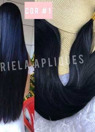 Cabelo para mega hair preto