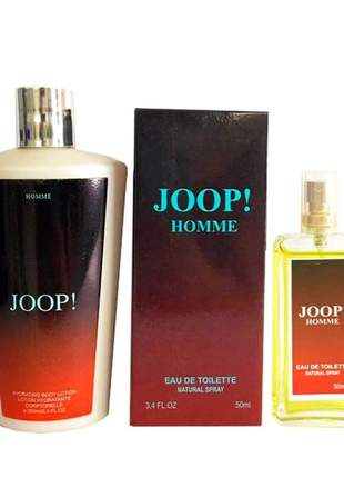 Kit colônia a base de óleo 50ml + creme hidratante 250ml importado joop