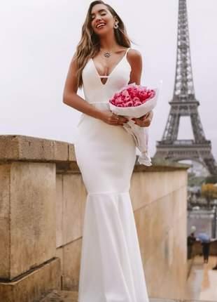 Vestido logo sereia branco - noiva