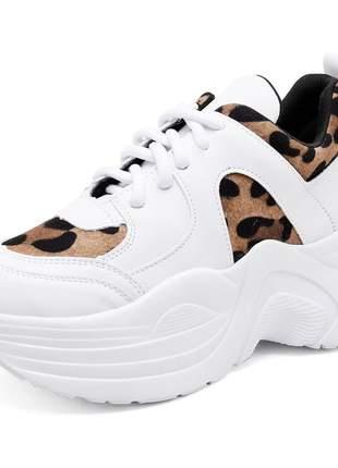 Tênis sneaker chuncky mah 191 branco/onça