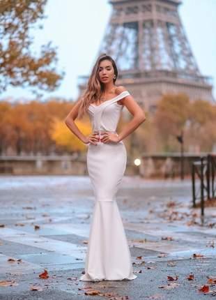 Vestido longo sereia -  noiva