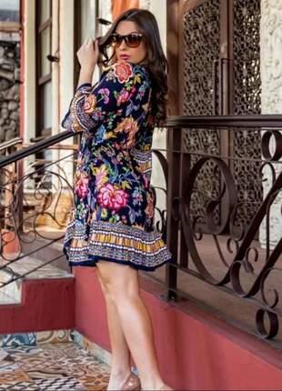 Vestido feminino kimono indiano casual ou moda praia boho