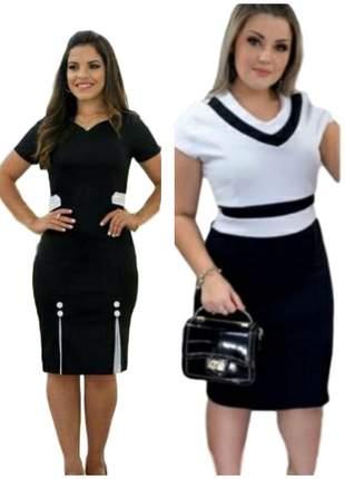 Kit com 2 vestidos moda evangelica social midi