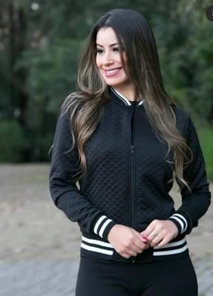 Jaqueta bomber jaquetinha casaco feminino várias cores quentinha