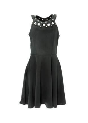 Vestido infinity fashion curto evasê preto