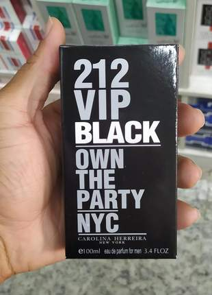 Perfume importado 212 vip black carolina herrera 100ml