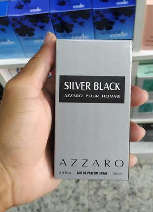 Perfume importado silver black azzaro pour homme 100ml