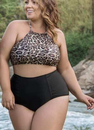 Biquíni tigrado plus size