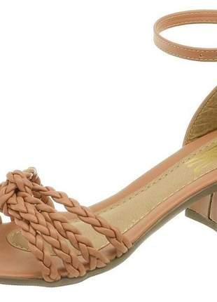 Saltinho feminino sandalia salto grosso confortavel barato