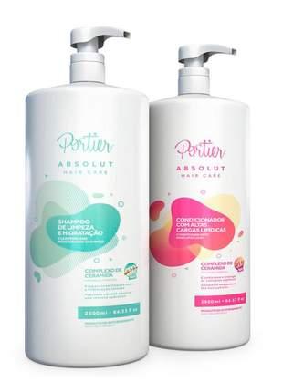 Kit portier absolut hair care shampoo e condicionador 2,5lt