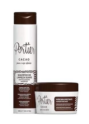 Kit portier cacao shampoo e hidratação pós quimica uso diario