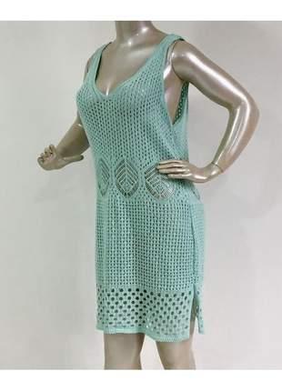 Saida de praia tricot feminino