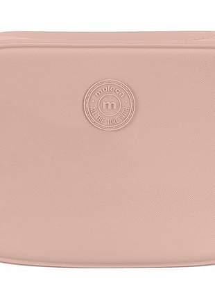 Bolsa quadrada média feminina moleca rosa claro tira grossa 5000722242r