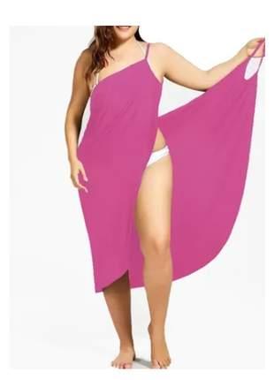 Vestido saída de praia plus size moda feminina, roupas, midi