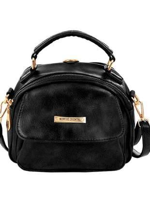 Bolsa mochila feminina alto relevo versátil alça de mão