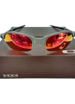 Oculos de sol oakley juliet  fire red penny squared romeo 1 vilao