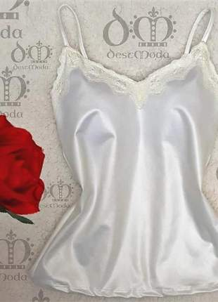 Regatas com bojo branca em cirrê blusas femininas tamanho únco