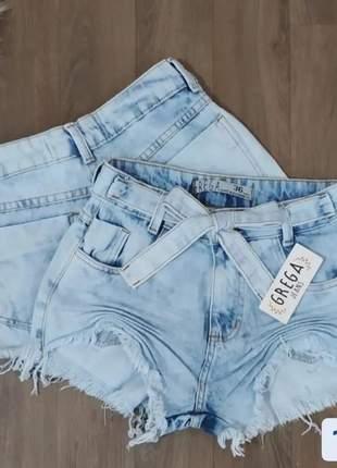 Shorts jeans lavagem clara vários modelos 34 ao 44