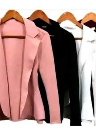 Kit 4 blazer feminino neoprene várias cores