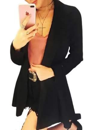 Kit com 2 blazer longo ferminino alfaiataria