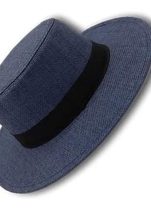 Chapéu aba média super firme feminino azul royal
