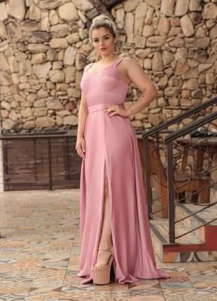 Vestido de festa longo madrinha de casamento serenity e rosê