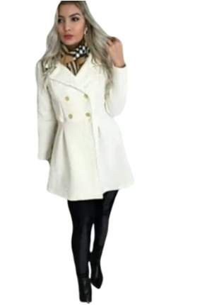Sobretudo feminino casaco de frio grosso de inverno